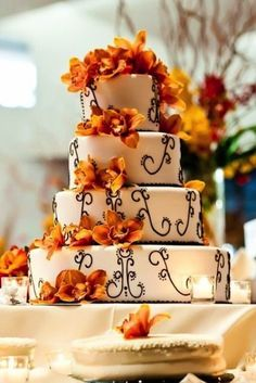 Autumn Wedding Cakes - (Diamonds, Engagement Rings, and Fine Jewelry at www.brilliance.com)