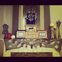 House of Hargrove {the blog}  Halloween Mantel