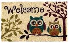 Amazon.com: Tropix Tree Top Owls Outdoor Mat: Home & Kitchen