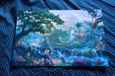 Thomas Kinkade Disney The Jungle Book 8x12 Print | eBay $35