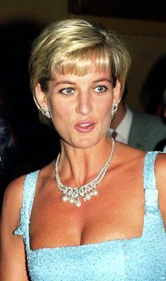 June 3, 1997: Diana, Princess of Wales at the English National Ballet production of Swan Lake at the Royal Albert Hall..