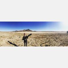 Hasta la vista, baby - keeping it real on the set of Journeyman #props #filming #bts #desert #shoot @bigsquidfilms