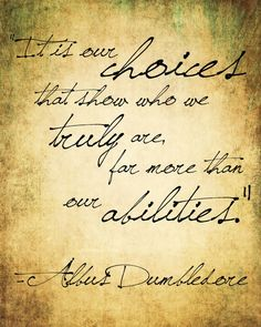 Dumbledore. Choice and Accountability.