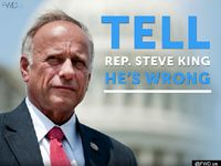 REP  STEVE  KING  R-IA... IS  PERSECUTED  BY  ATTACK  ADDS  FROM  Billionaire Facebook founder Mark Zuckerberg  political advocacy firm FWD.us is publicly driving for a proposal to grant amnesty to illegal alien DREAMers who enlist in the U.S. military with a pair of new attack ads against Rep. Steve King (R-IA).
