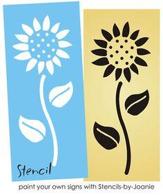 Easy Sunflower STENCIL Country Floral Garden Primitive Kansas Decor Sign U Paint | eBay
