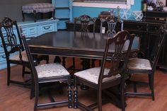 Just Finished This Duncan Phyfe Antique Dining Room Set Black Distressed Fu