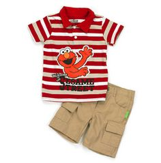 Cute Baby Boy Outfits, Little Boy Outfits, Cool Outfits, Toddler Boys, Kids, Short Set, Elmo, Little Man, Striped Shorts