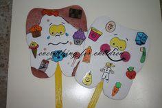 ♥ Everything for children: Gülen sağlıklı dişler. Health Activities, Toddler Activities, Preschool Education, Preschool Activities, Teacher Notebook, Kids Songs, Dental Health, School Projects, Art For Kids