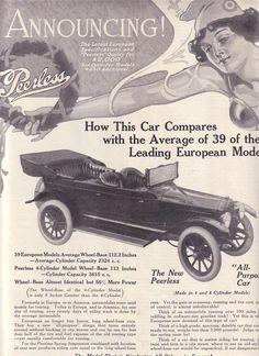Vintage Ad Peerless car early Metropolitan Magazine Early 1900's