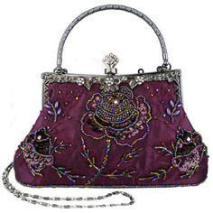 Antique purple purse