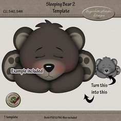 You can find links to my stores for this template on my blog here http://sugarbuttartisticdesigns.blogspot.com/2014/10/new-sleeping-bear-waiting-for-santa.html