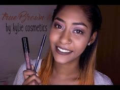 Maquillaje con el labial True Brown K de Kylie Cosmetics ♡ True brown K by Kylie Cosmetics Makeup - YouTube