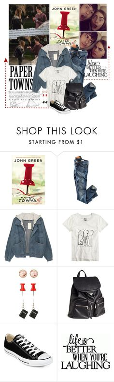 """Paper Towns"" by junglover ❤ liked on Polyvore featuring H&M, J.Crew, Converse, movie, polyvoreeditorial, polyvorecontest and papertowns"