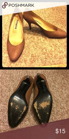 Snake Pattern 3 in. heals Used heels! But fun to wear! They are not that high and not really hard to walk in! la marca Shoes Heels