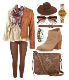 """""""Boho Barn"""" by egordon2 ❤ liked on Polyvore featuring Cheville, T-shirt & Jeans, Alberto Fermani, Aéropostale, Michael Kors, Dorothy Perkins, River Island and Lack of Color"""