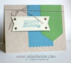 """Julie's Stamping Spot -- Stampin' Up! Project Ideas Posted Daily: 50% Off June Paper Pumpkin Kit + More """"Hey, Man"""" Ideas"""