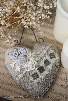Shabby Chic Hearts, Patchwork Heart, Knitted Heart, Fabric Hearts, Soft Heart, Wicker Hearts, Lavender Bags, Felt Hearts, Blue Hearts