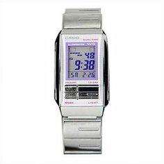 Casio #LA201W-6A Women's Futurist Metal Band Alarm Chronograph Watch Casio. $44.97. Daily alarm, Hourly time signal, Auto-calendar (to year 2099). Accuracy: ±20 seconds per month, Approx. battery life: 3 years on CR1216. Measuring capacity: 23:59'59.99'', Measuring modes: Elapsed time, split time, 1st-2nd place times. Electro-luminescent backlight Afterglow, Dual time , 1/100-second Stopwatch. 12/24-hour format, Regular timekeeping: Hour, minutes, seconds, pm, m...