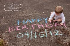 chalk, outdoor, birthday