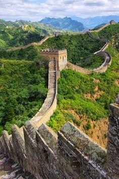 La muy larga y magnífica Gran Muralla de China.