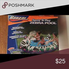 Spray N Play Zebra Pool New In Box Other