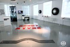 """About a tyre"", installation view, Fondazione Pirelli, Milan, 2012 http://www.fondazionepirelli.org"