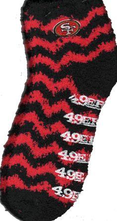 380fdb9ad3 FBF San Francisco 49ERS Chevron Stripes Sleepsoft Non-Skid Sock – Socks by  My Foot