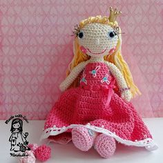 Crochet pattern  princess doll DIY by VendulkaM on Etsy, $5.99
