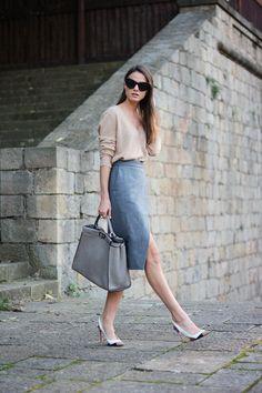 camel-sweater,-christian-louboutin-heels,-&-other-stories-skirt,-fendi-bag,-celine-sunglasses