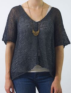 Knitting pattern for Helena Top.need to make a crochet pattern for this! Knitting Patterns Free, Knit Patterns, Free Knitting, Easy Patterns, Knit Or Crochet, Crochet Pattern, Top Pattern, Knitting Yarn, Pulls