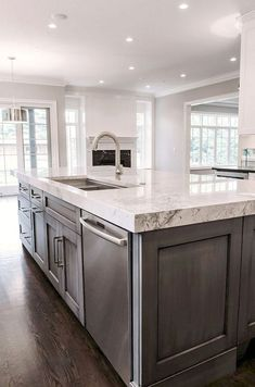 53 Bright Bold And Colorful Kitchens Gray Is A Neutral That S Been Taking Center Stage Lately In Many Homes Blue Another Color Works Well
