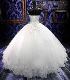 Noble Ball Gown Floor Length Sweetheart Lace Up Bowknot Appliques Wedding Dress | eBay