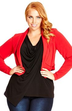 City Chic 'Siren' Jacket (Plus Size) available at #Nordstrom