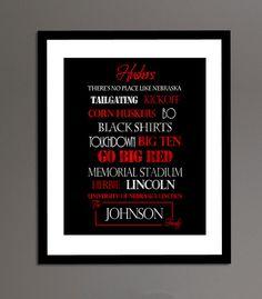 Nebraska Huskers Print. I need this for my husker wall