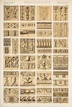 Jones Owen,The grammar of ornament (1910) [Renaissance ornament. Plates 74, 75, 76, 77, 78, 79, 80, 81, 82],   pp. PL. LXXIV-PL. LXXXII ff.