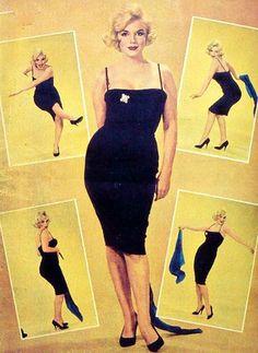 19/03/1959 Chicago Marilyn en robe noire - Divine Marilyn Monroe