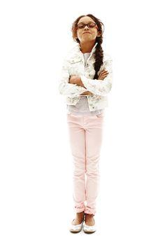 arizona girls' denim jacket and skinny jeans