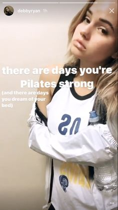 Debby Ryan, Pilates, Dreaming Of You, Graphic Sweatshirt, Strong, Eyes, Day, Instagram Posts, Women