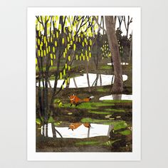 fox Art Print by Lara Paulussen - $18.00