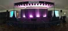 Granberry Hills - This karaoke stage was set up for the Alamo NACE 2017 Lip Sync Battle. Lighting System for singers, two audio monitors on stage, stage monitor for singer lyrics, 3 wireless mics and dual Screens for the audience to view the lyrics) Stage Lighting, Lighting System, Karaoke System, Lip Sync Battle, Projection Screen, Screen Size, Screens, Singers, Monitor