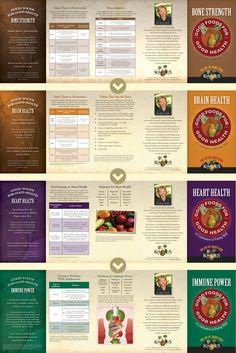 """Good Foods For Good Health"" Campaign - Brochures, Retail | Team: Colin Hooker, creative director; Audra Norton / Andrzej Zalasinski art directors, designers; Danny Dobrin, copywriter | Agency: Hooker and Company | Client: Kowalski's Markets"