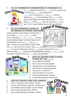 School Worksheets, Worksheets For Kids, Afrikaans Language, Dutch Language, School Tool, Teaching Aids, School Readiness, First Grade Math, Classroom Activities