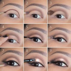 Soft, rose gold, smokey eye tutorial. Good for hooded eyelids or monolids on Asian eyes. Products and instructions in the link. Wedding makeup, special occasion, evening makeup. by Katanya