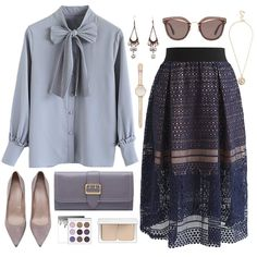 Chicwish- love this skirt Classy Outfits, Pretty Outfits, Stylish Outfits, Modest Fashion, Hijab Fashion, Fashion Dresses, Skirt Fashion, Modele Hijab, Hijab Style