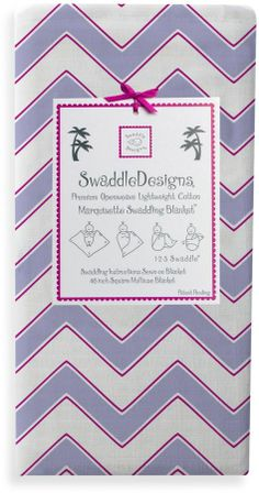 Swaddle Designs Chevron Marquisette Swaddle Blanket in Lavender on shopstyle.com