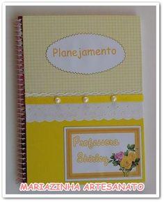 Caderno decorado e personalizado