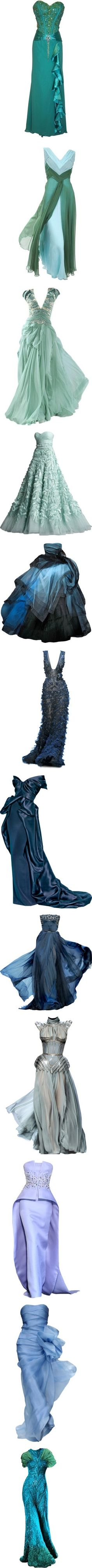 """Blue Gowns"" by nightwatchman54 ? liked on Polyvore...... #josephine#vogel"