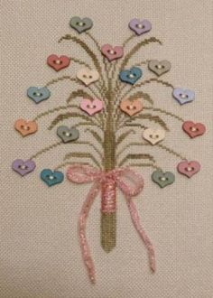 A Posy For You is the title of this cross stitch pattern from Freda's Fancy Stitching.