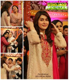 Dhamakedar entry of Dulhay walay LIVE in Utho Jago Pakistan, Geo Tv, Cross Stitch, Sari, Live, Fashion, Saree, Moda, Punto De Cruz