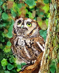 Owl Texture An Introduction to Alcohol inks Tole Painting, Ink Art, Ink Drawing, Inks, Ink, Animal Paintings, Art Inspiration, Creative Art, Ink Painting